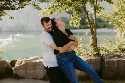 Scarborough Bluffs Couples Adventure | Danica Oliva Photography
