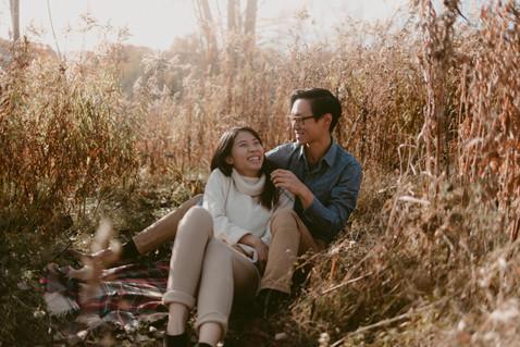 Free Spirited Giggle Engagement at Evergreen Brickworks  |  Karrie & Calvin
