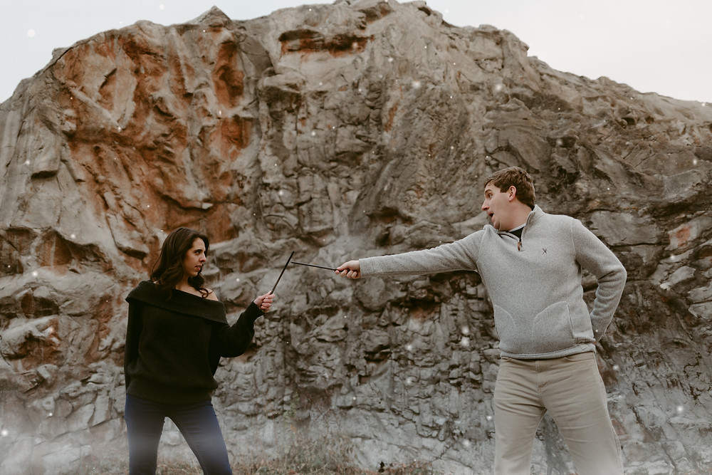 Harry Potter Inspired Engagement Session - Ontario Place Toronto
