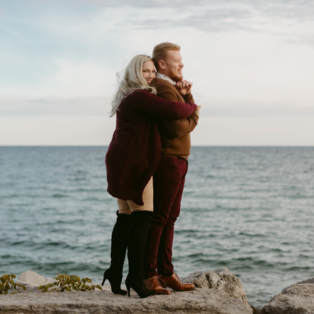 Couples Session at Scarborough Bluffs | Danica Oliva Photography