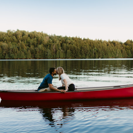 Cottage Country Engagement Session with Elyse & Brett | Danica Oliva Photography