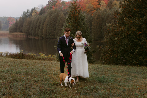 Rainy Day Elopement at Millcroft Inn & Spa | Danica Oliva Photography