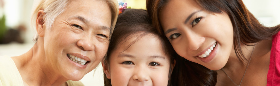 Female Multi Genenration Chinese Family