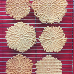 Pizzelles baked in Monticello