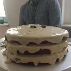 Hummingbird Birthday Cake baked in Berlin