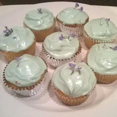 Lavender Vanilla Cupcakes baked in Ivy, Virginia