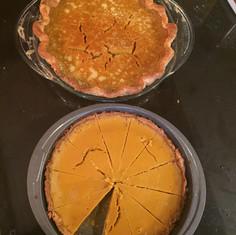 Buttermilk Pumpkin Pie and Bourbon Pumpkin Tart baked in Prospect Lefferts Gardens, Brooklyn