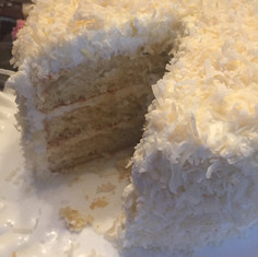 Coconut Cake baked in Charlottesville