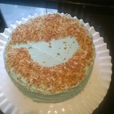 Speckled Coconut Cake baked in Crozet, Virginia