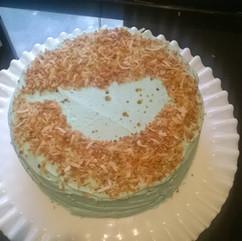 Speckled Coconut Cake baked in Crozet, Virginia