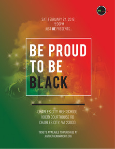 BE proud to BE BLACK