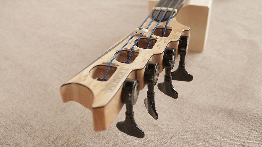 Fretless Spring Bass Guitar (custom headstock)