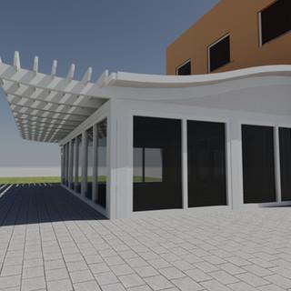 Terrace with pergola 2