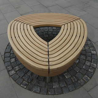 Glulam bench