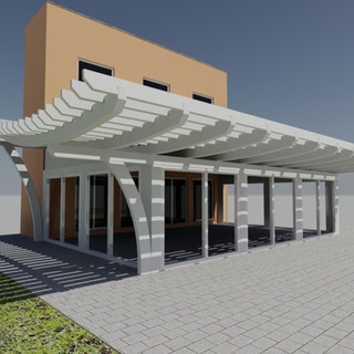 Terrace with pergola 1