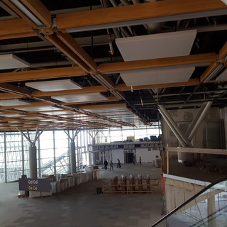 Interior glulam instalation