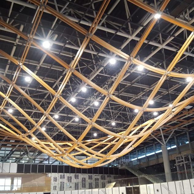 Interior Glulam dome