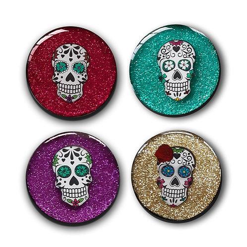 Sugar Skull Magnet Set