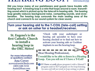 ST Eugene has a HEARING LOOP!