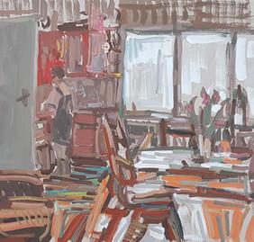 Naine köögis