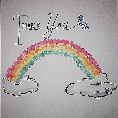 Thank You Over the Rainbow Greeting Card