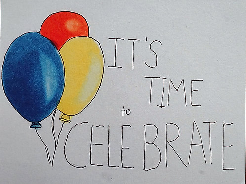 It's Time to Celebrate Card