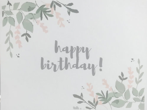 Happy Birthday Foliage Greeting Card