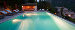 Der Pool in der Abendstimmung