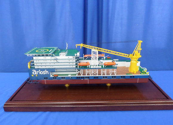 120m Pipe Laying Accommodation Barge (Scale 1:200)