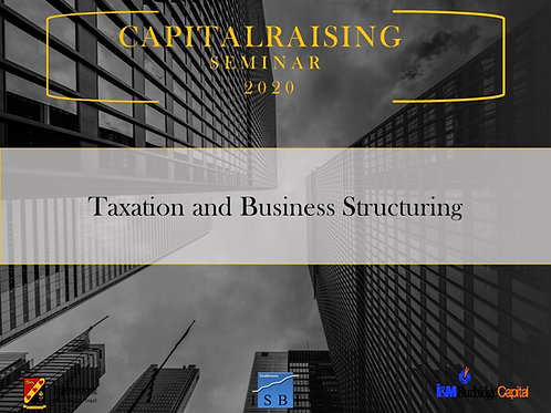 Taxation and Business Structuring