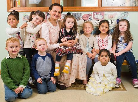 Miss Asha and kindergarten class