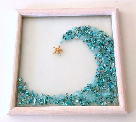 Shell and Glass Wave Made by Gilda Jagger Studios