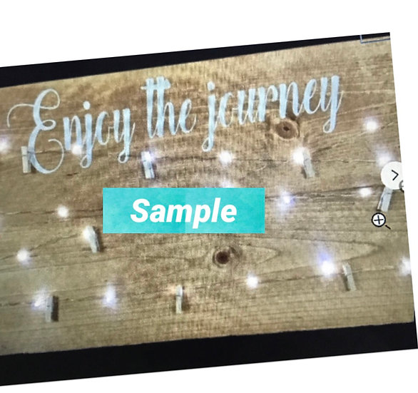 FUNDRAISER enjoy the journey photo/memory holder w lights ($43)