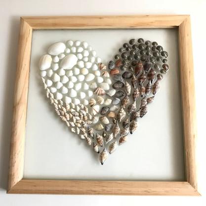 Shell Heart Made by Gilda Jagger Studios