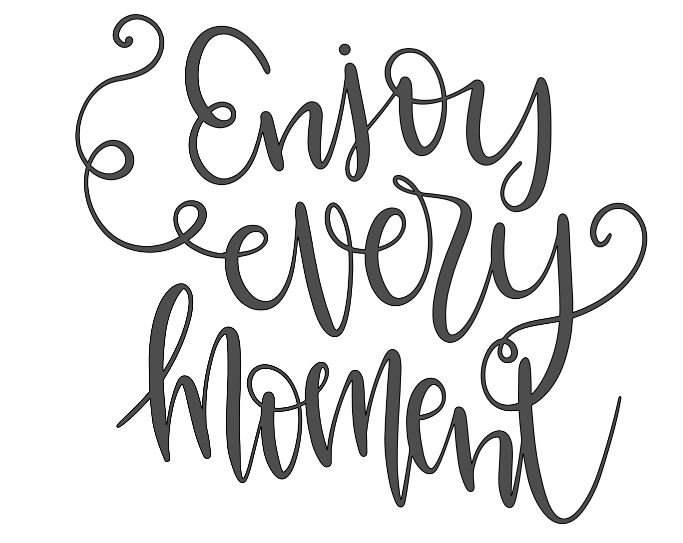 enjoy every moment ($40)