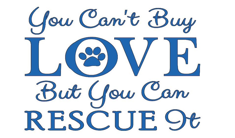 FUNDRAISER You Can't Buy Love Rescue ($40)