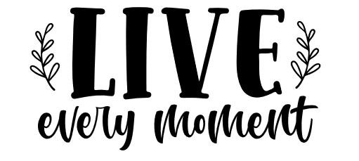 live every moment ($35)
