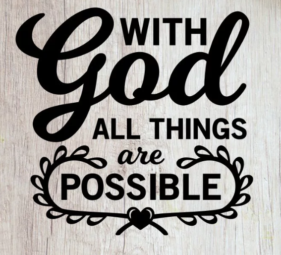with God all possible ($35)