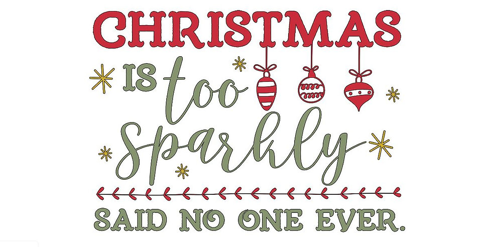 Christmas Sparkly ($35)