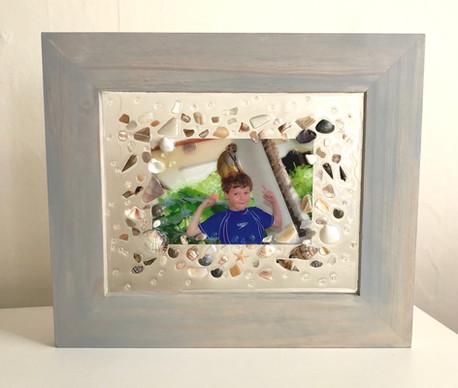Family Beach Glass Art Made by Gilda Jagger Studios