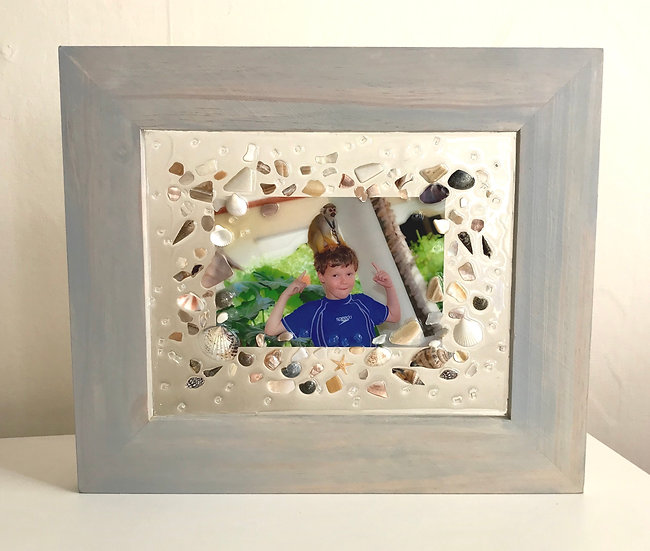 Beach Glass Rectangle Wide Frame