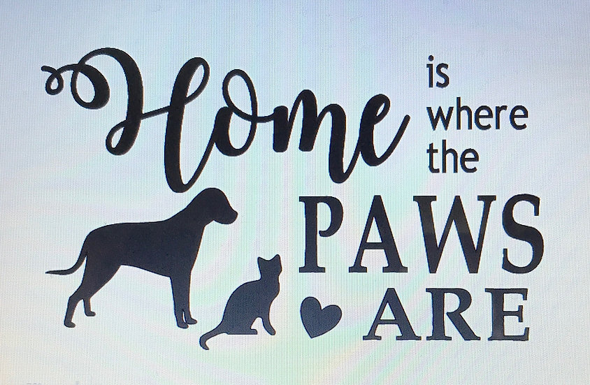Home Is Where Cat & Dog ($35)