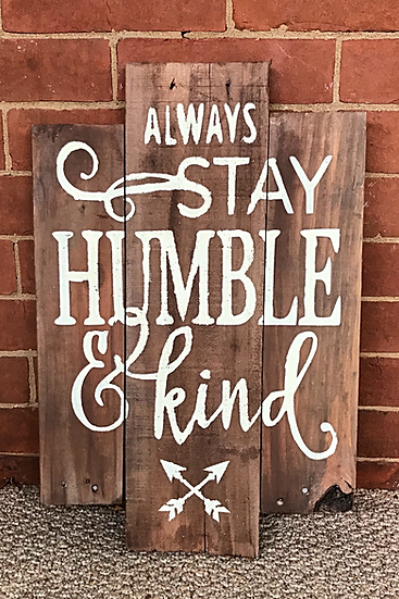 Stay Humble Upcycled Pallet ($42)