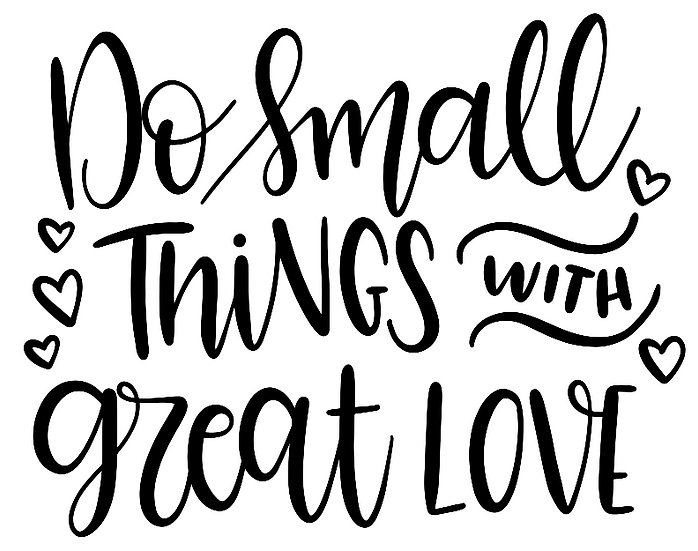 do small things with love ($35)