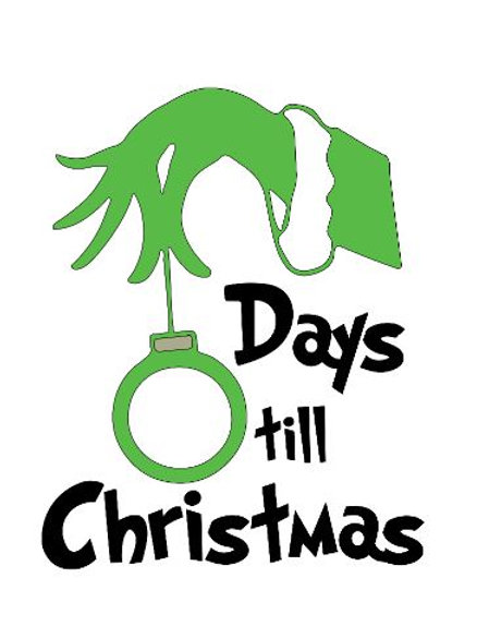 Days Till Christmas Chalkboard.Grinch Christmas Countdown 30