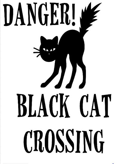 FUNDRAISER Black Cat Crossing ($40)