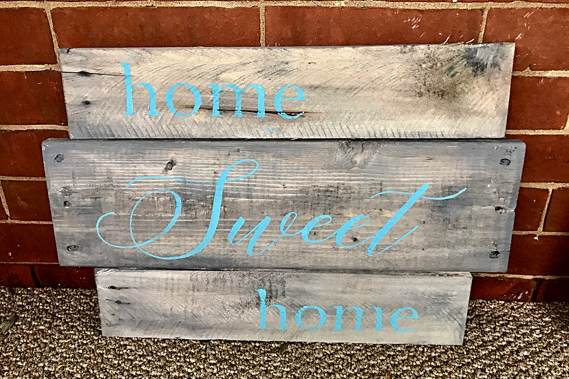 Home Sweet Home Upcycled Pallet ($42)