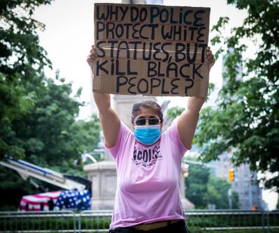 Columbus Circle protestor, NYC