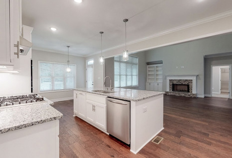 Family Room and Kitchen island