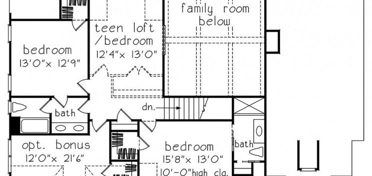Chelsea second floor plan drawing